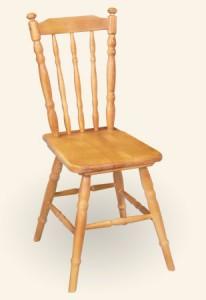 Krzesło toczone drewniane