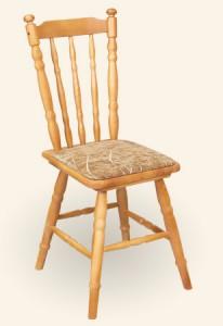 Krzesło drewniane toczone tapicerowane