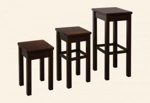 hokery drewniane kwadrat- wys 80 cm, 60cm, 45 cm
