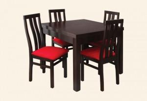 stół KOSTKA krzesło CARO